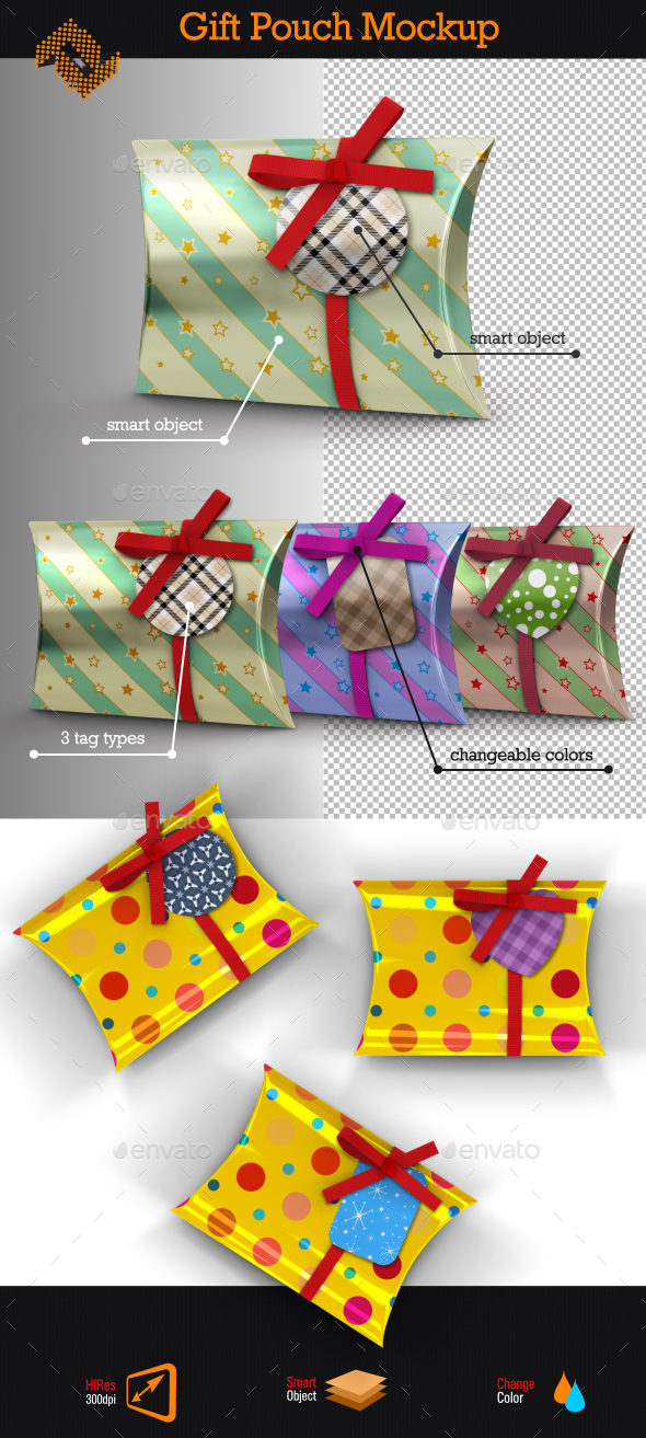 GraphicRiver Gift Pouch Mockup 9670129