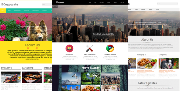 B Corporate | Responsive Blogger Template