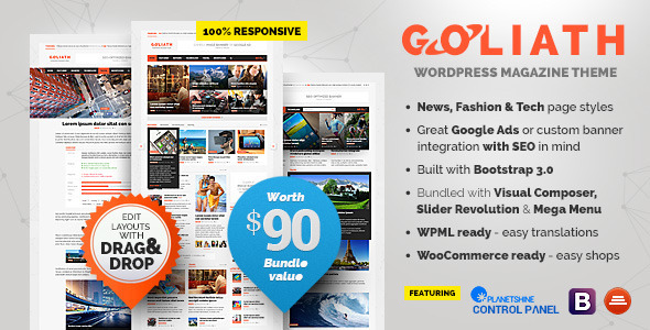 ThemeForest GOLIATH Ads Optimized News & Reviews Magazine 9670200