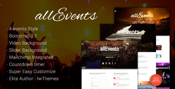 Events, Conference, Tourism, Music, Sport | all Events Theme