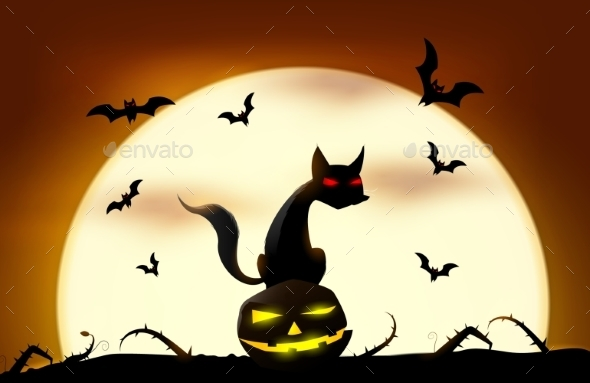 GraphicRiver Halloween Background 9670463