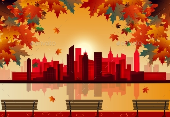 GraphicRiver Autumn City 9670476