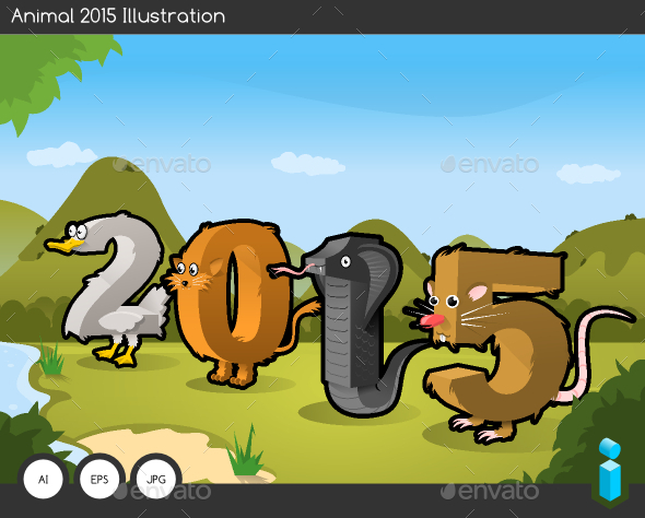 GraphicRiver Animal 2015 Text Illustration 9615322