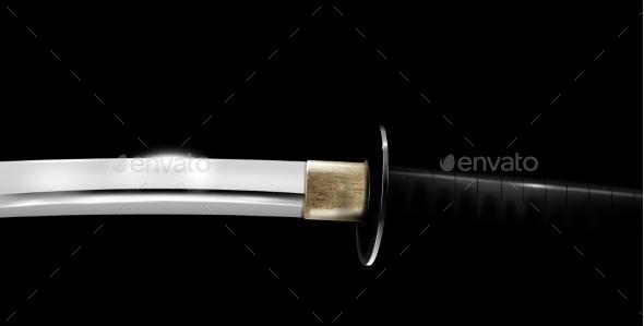 GraphicRiver Japanese Sword 9670562