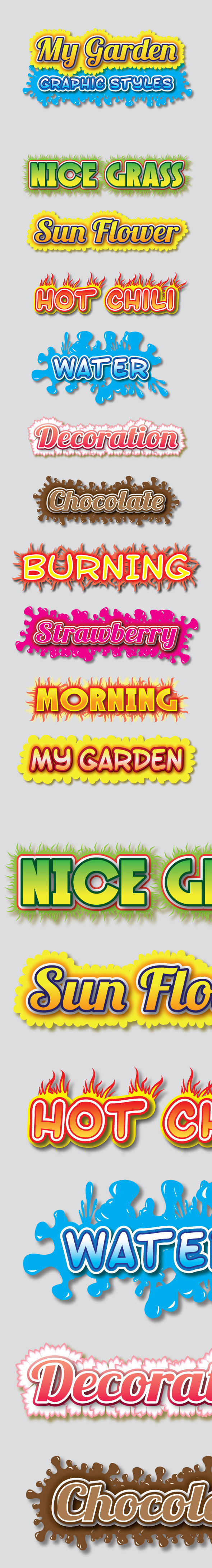 GraphicRiver My Garden Graphic Styles for Ai 9670741
