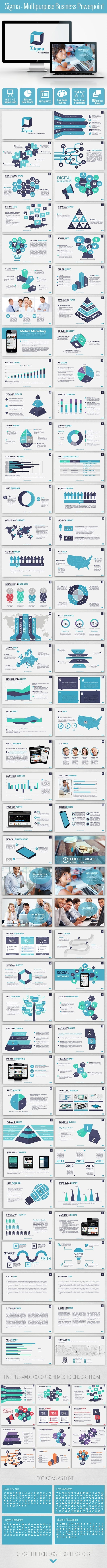 GraphicRiver Sigma Multipurpose Business Powerpoint Template 9670768