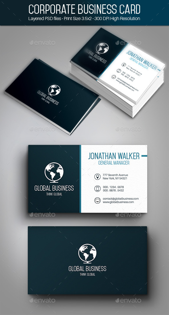 GraphicRiver Creative Flat & Minimal Business Card 001 9670771