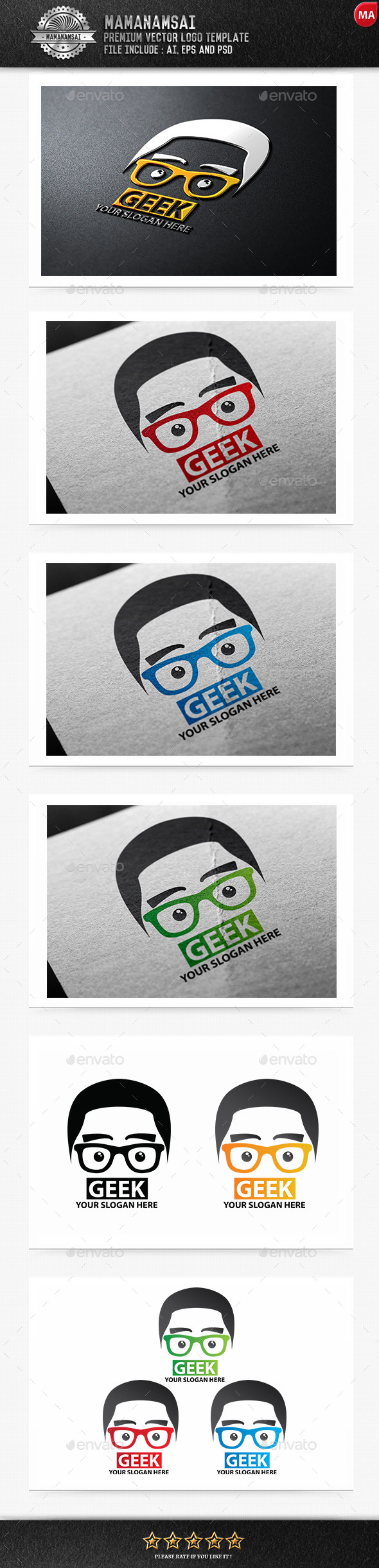 GraphicRiver Geek Logo 9671033