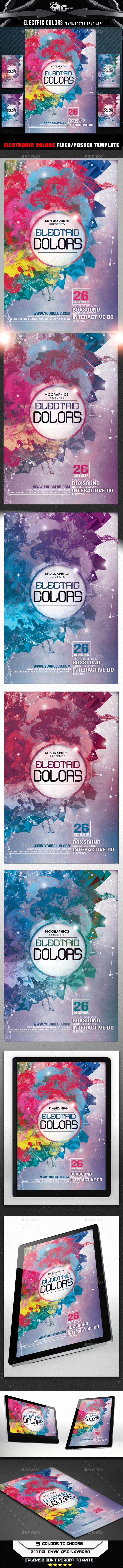 Electric Colors Flyer Template