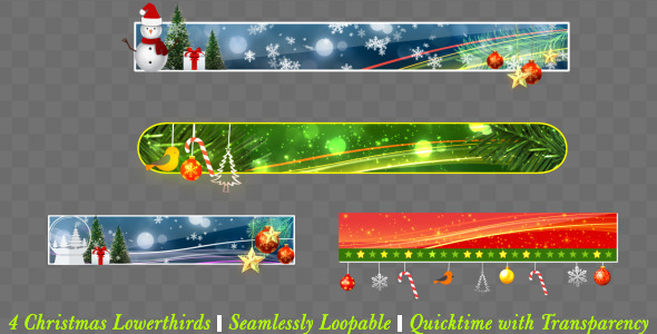 VideoHive Christmas Lowerthird Pack 9671070