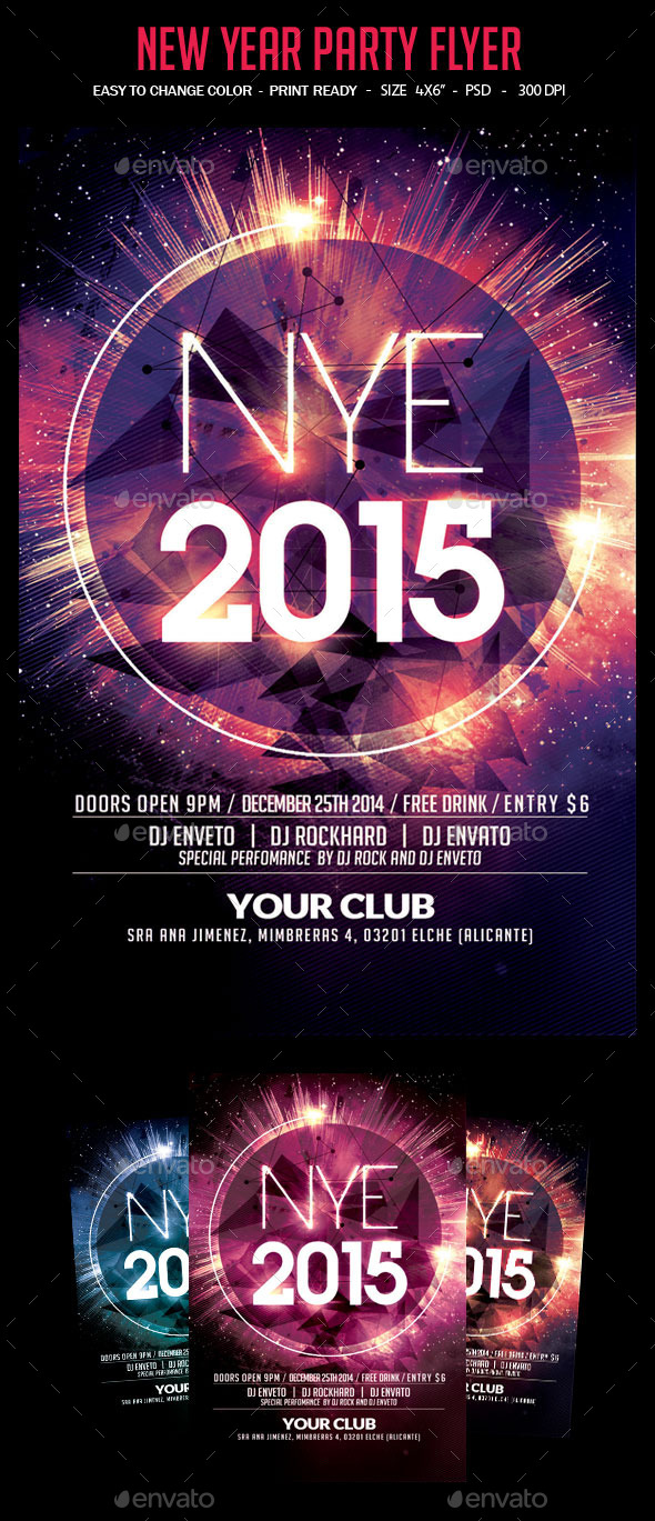 GraphicRiver New Year Party Flyer 9671072