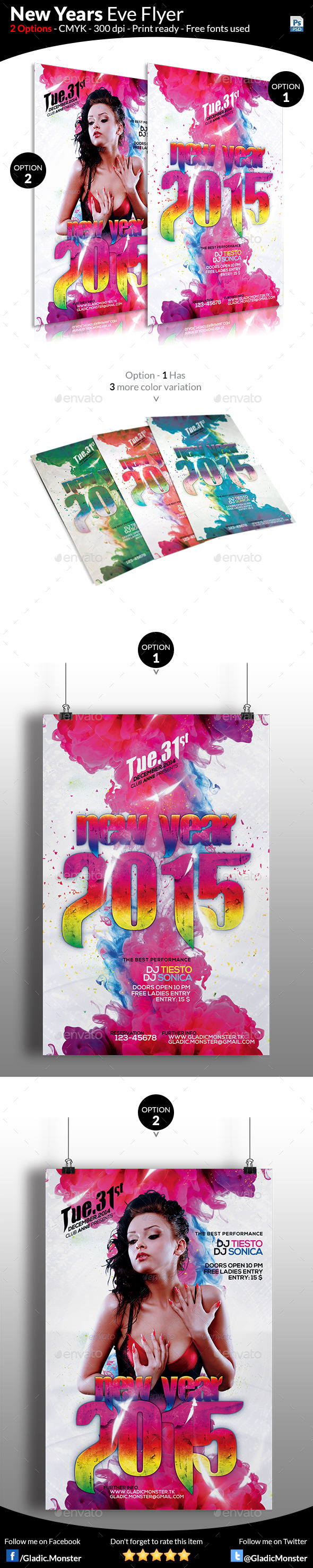 GraphicRiver Colorful New Year Flyer Template 9671111