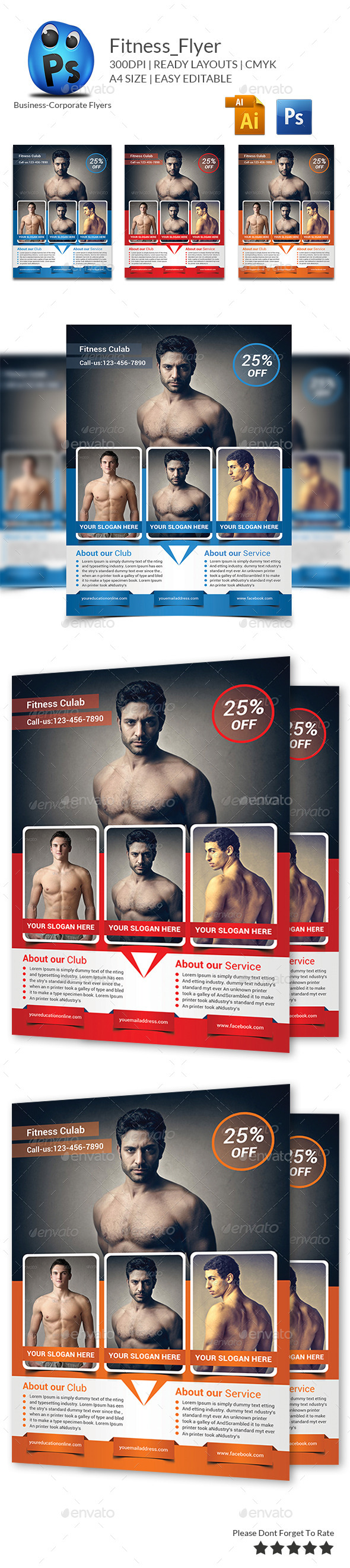 GraphicRiver Fitness Flyer Print Templates 9671112