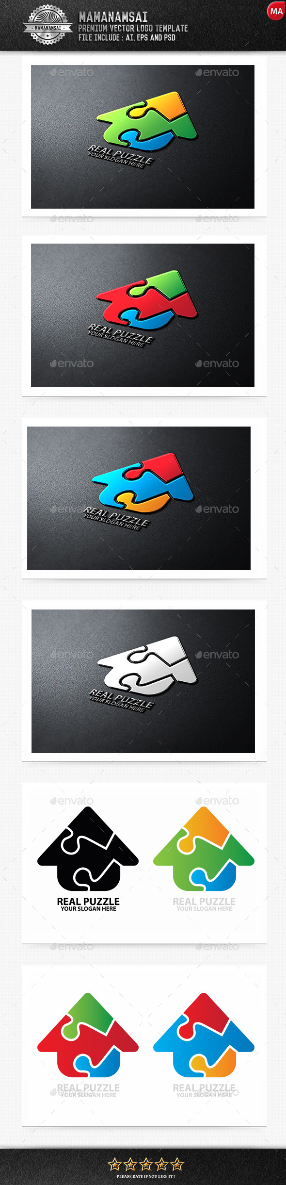 GraphicRiver Real Puzzle Logo 9671117