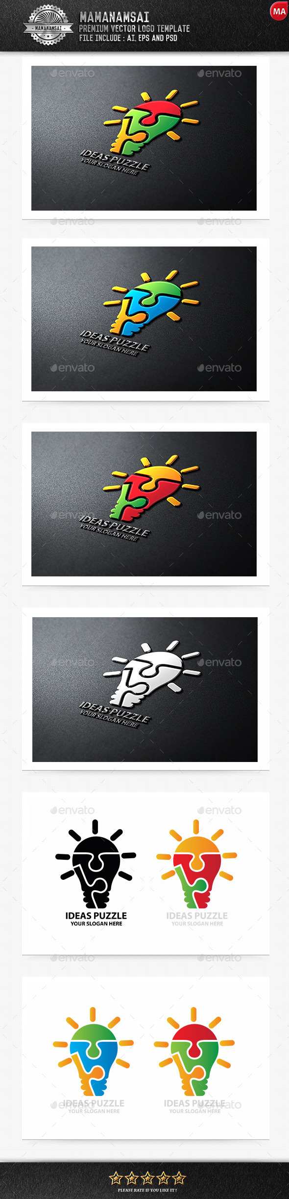 GraphicRiver Idea Puzzle Logo 9671154