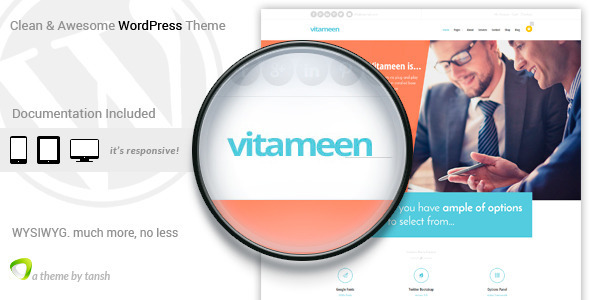 ThemeForest Vitameen Business Responsive WordPress Theme 9671239
