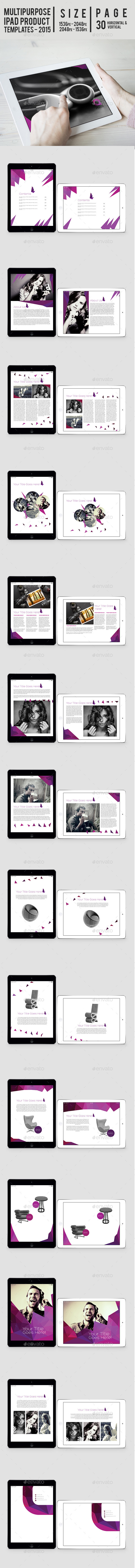 GraphicRiver Multipurpose Ipad Product Templates 9671244