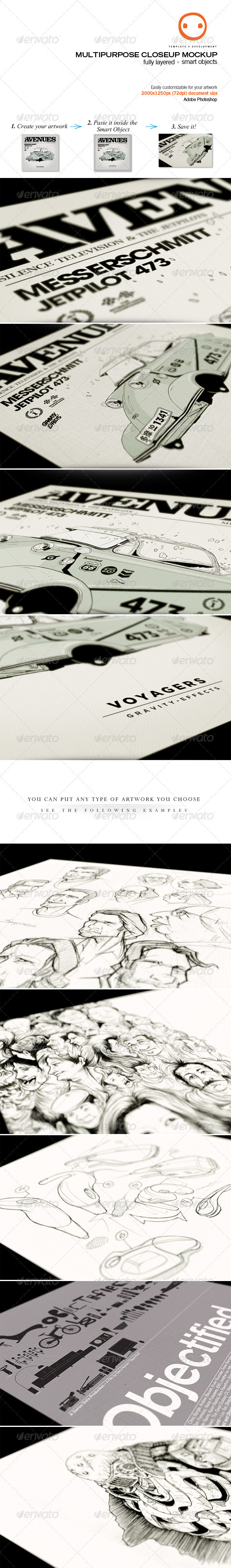 Multipurpose Closeup Mockup - Miscellaneous Print