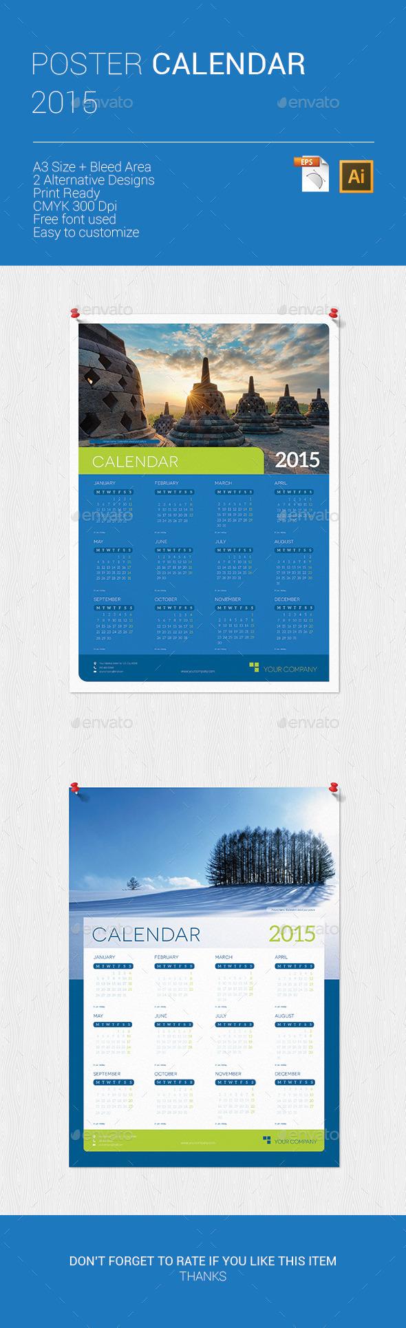 GraphicRiver Poster Calendar 2015 9671495