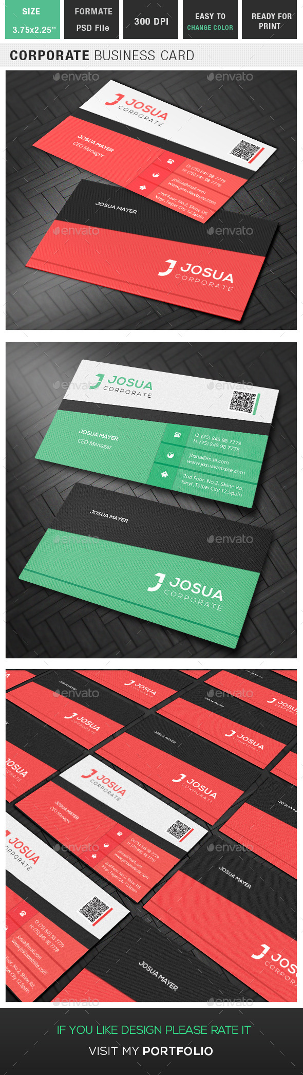 GraphicRiver Corporate Business Card 9671498