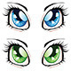 Anime Style Eyes - GraphicRiver Item for Sale