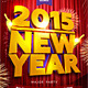 2015 New Year Flyer Template with 3D Title - GraphicRiver Item for Sale