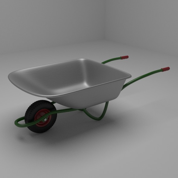 Wheelbarrow - 3DOcean Item for Sale