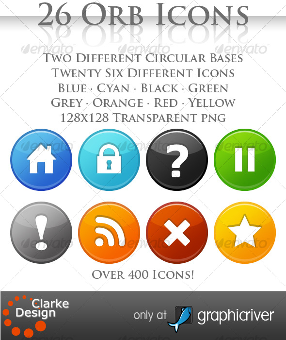 GraphicRiver A collection 26 Orb Icons 123097