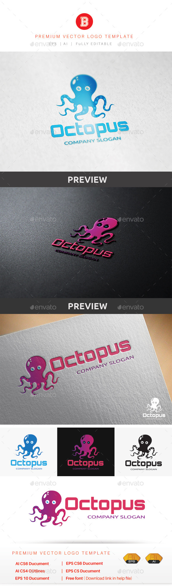 GraphicRiver Octopus Logo 9671794