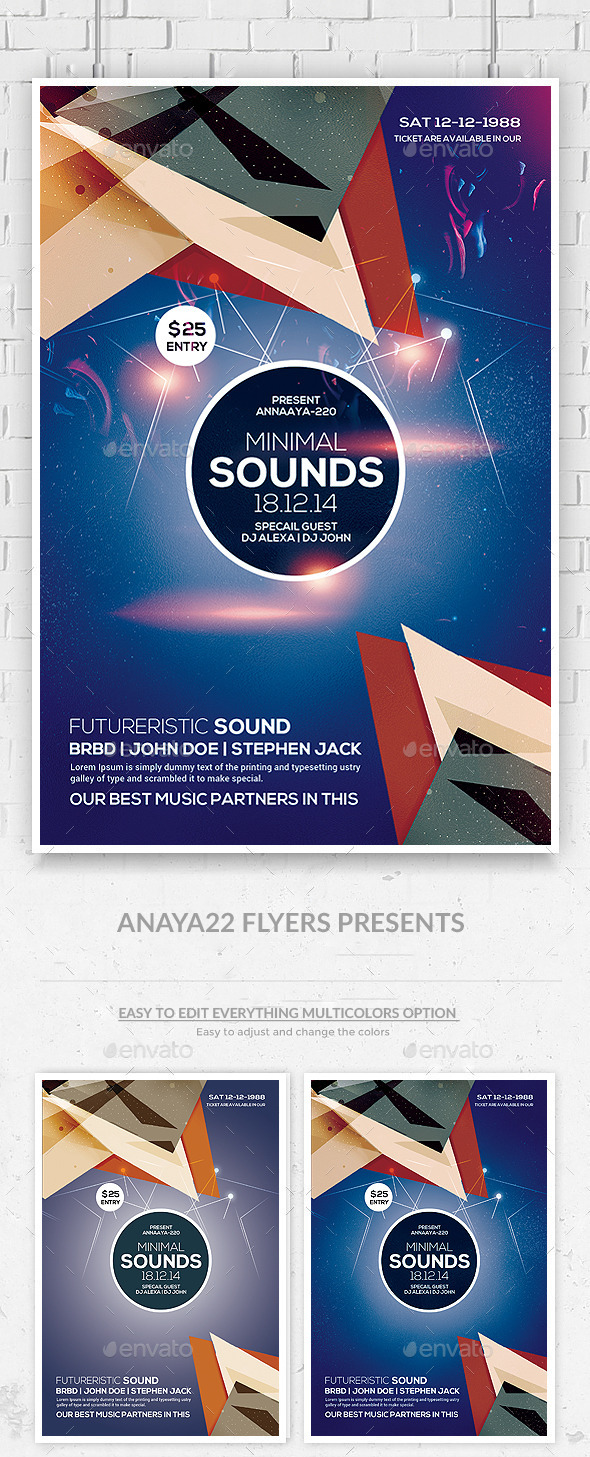 GraphicRiver Futuristic Flyer Psd Template 9671956