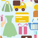 Shopping Icons Background - GraphicRiver Item for Sale