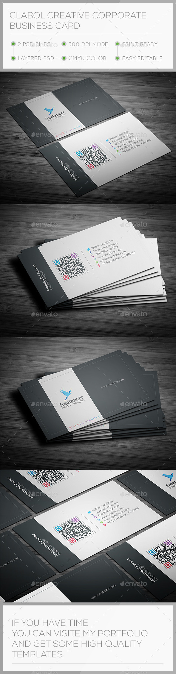 GraphicRiver Clabol Corporate Business Card 9672290
