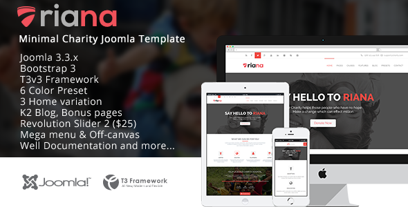 ThemeForest Riana Joomla Charity Template 9624617
