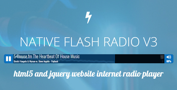 CodeCanyon Native Flash Radio 9672527