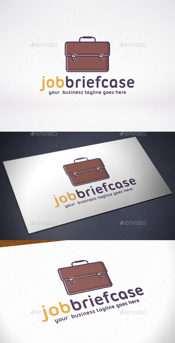 GraphicRiver Job Briefcase Logo Template 9672557
