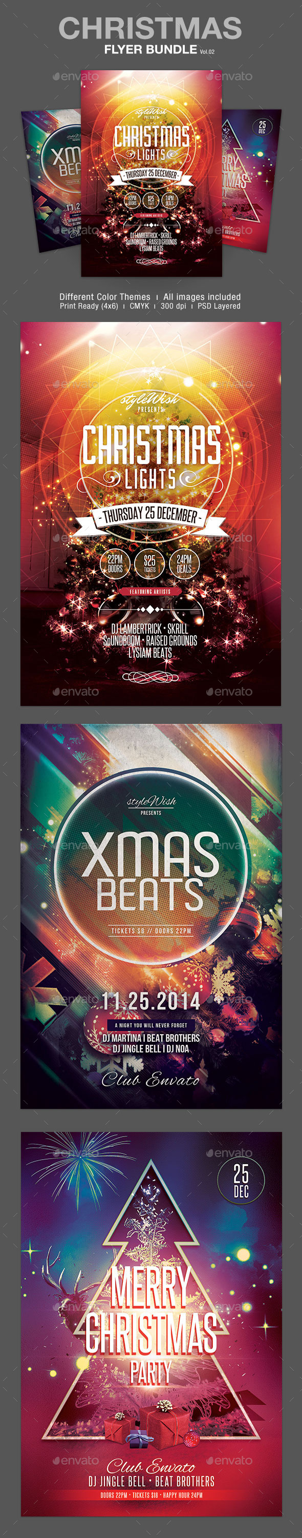 GraphicRiver Christmas Flyer Bundle Vol.02 9672670