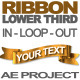 Ribbon Lower Third - VideoHive Item for Sale
