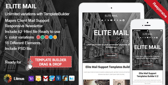 ThemeForest Elite Responsive Email & Template Builder Access 9672692