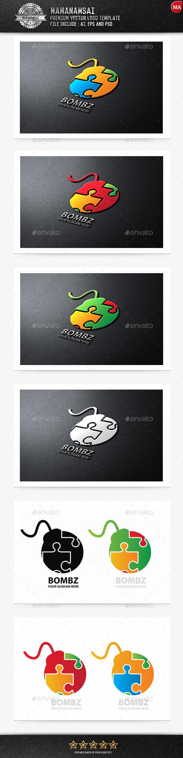 GraphicRiver Bomz Logo 9672865