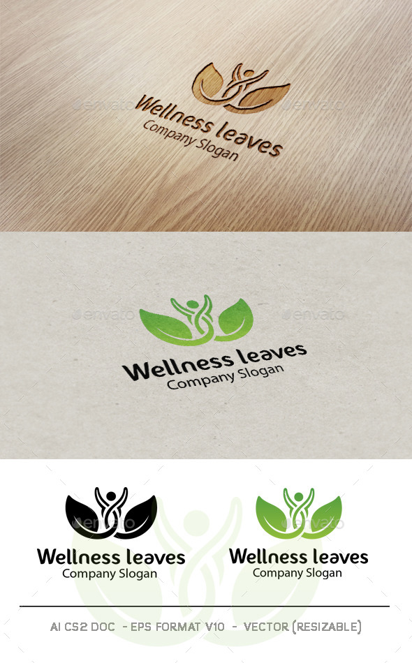 Wellness Leaves Logo