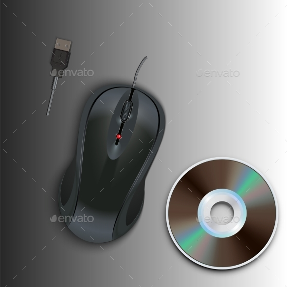 GraphicRiver Computer Mouse and CD 9673063
