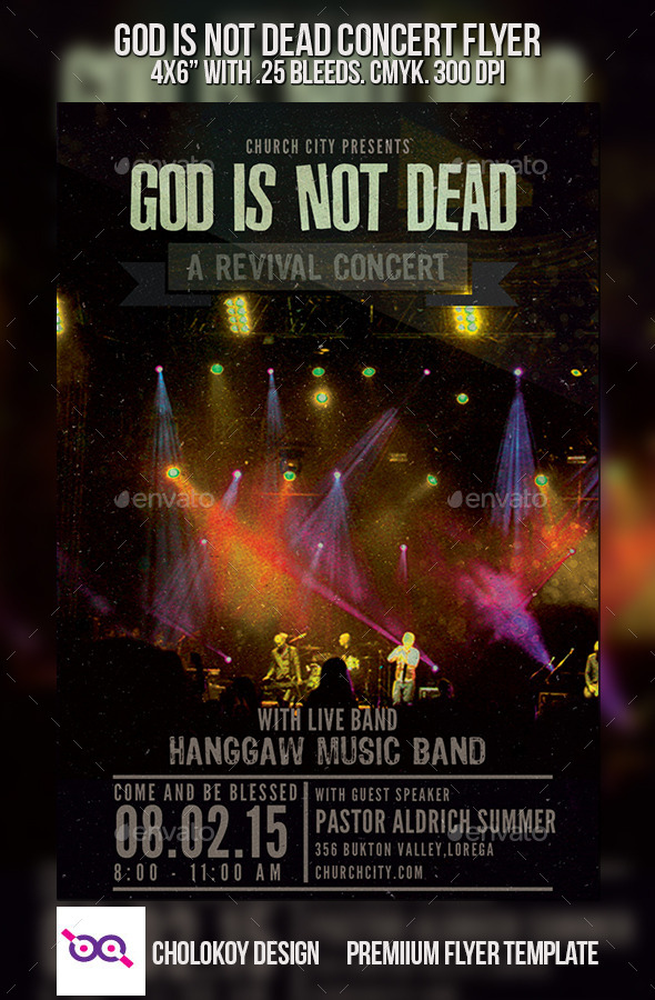 GraphicRiver God is Not Dead Concert Flyer 9673252