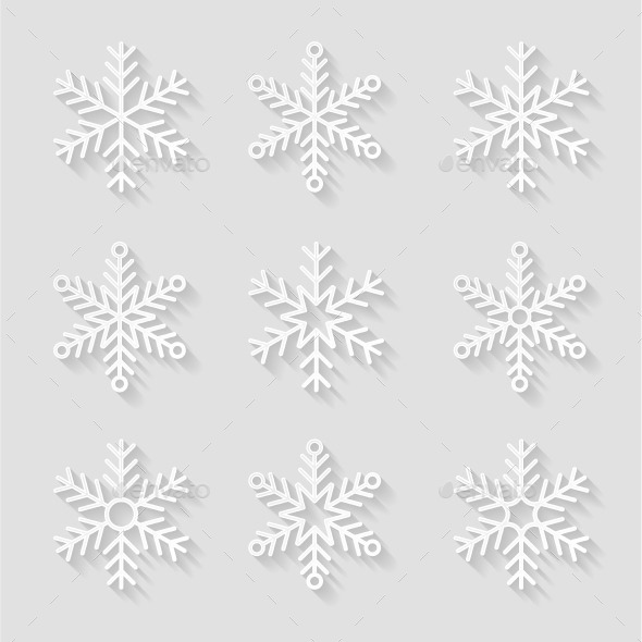GraphicRiver Decorative Paper Snowflakes 9673330