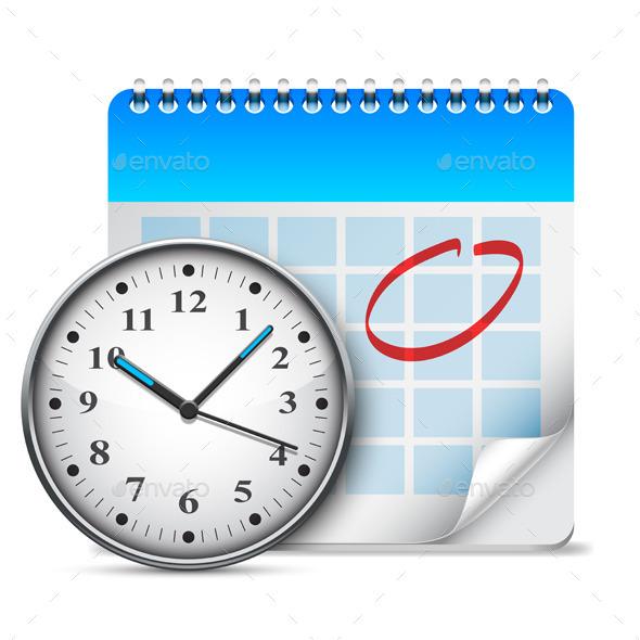 GraphicRiver Calendar and Clock 9673534