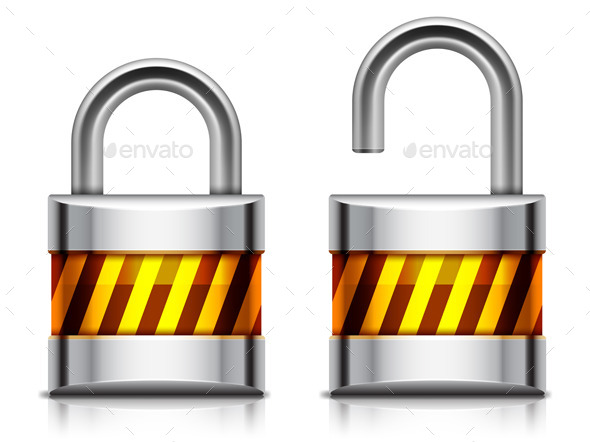 GraphicRiver Security Padlock 9673566