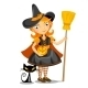 Little Halloween Witch and Black Cat.  - GraphicRiver Item for Sale