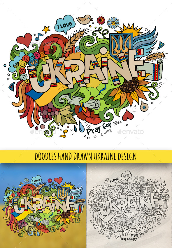GraphicRiver Ukraine Doodles Designs 9673593