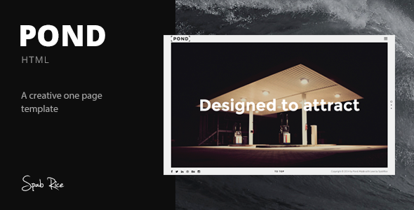 ThemeForest Pond Creative Portfolio Agency Template 9618336