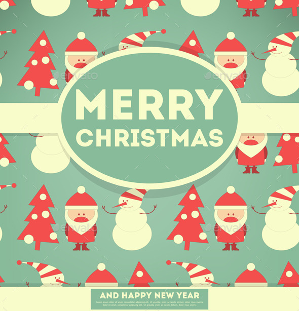 GraphicRiver Santa Claus and Snowman 9673715