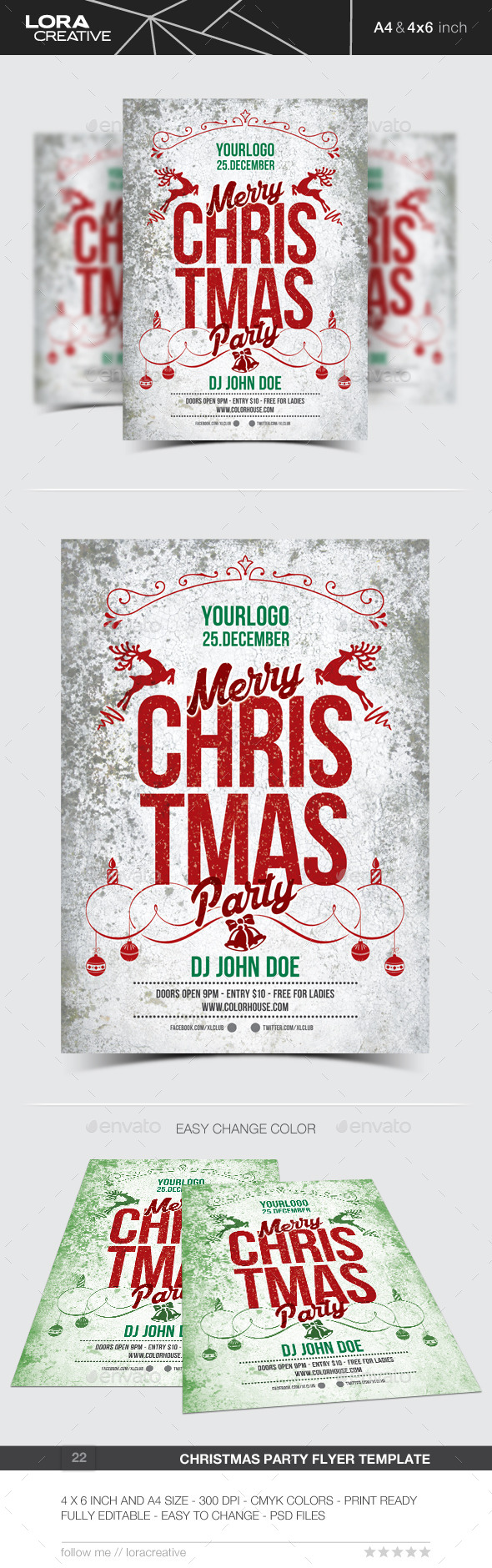 GraphicRiver Christmas Flyer Poster Invitation 22 9673757